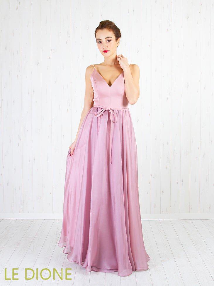 [ERUKEI/エルケイ]シフォンフレアーのシンプルロングドレス