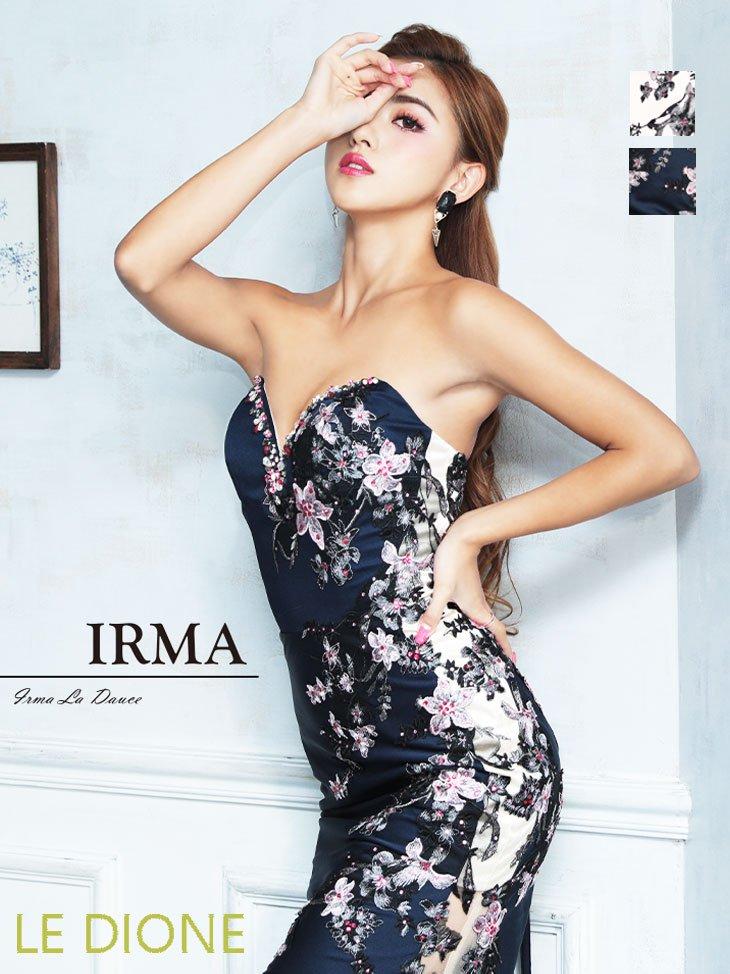 [JEAN MACLEAN/ジャンマクレーン]豪華花刺繍のベアトップタイトロングドレス