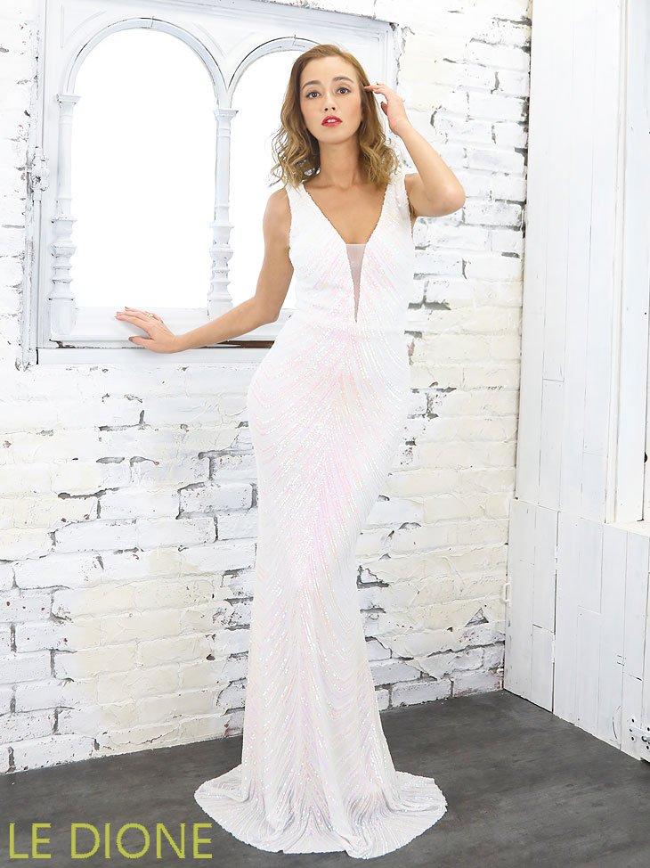 スパンコールマーメードロングドレス
