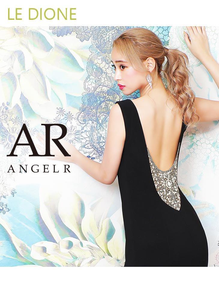 【Angel R/エンジェルアール】バックビジュ刺繍がSEXYなタイトロングドレス