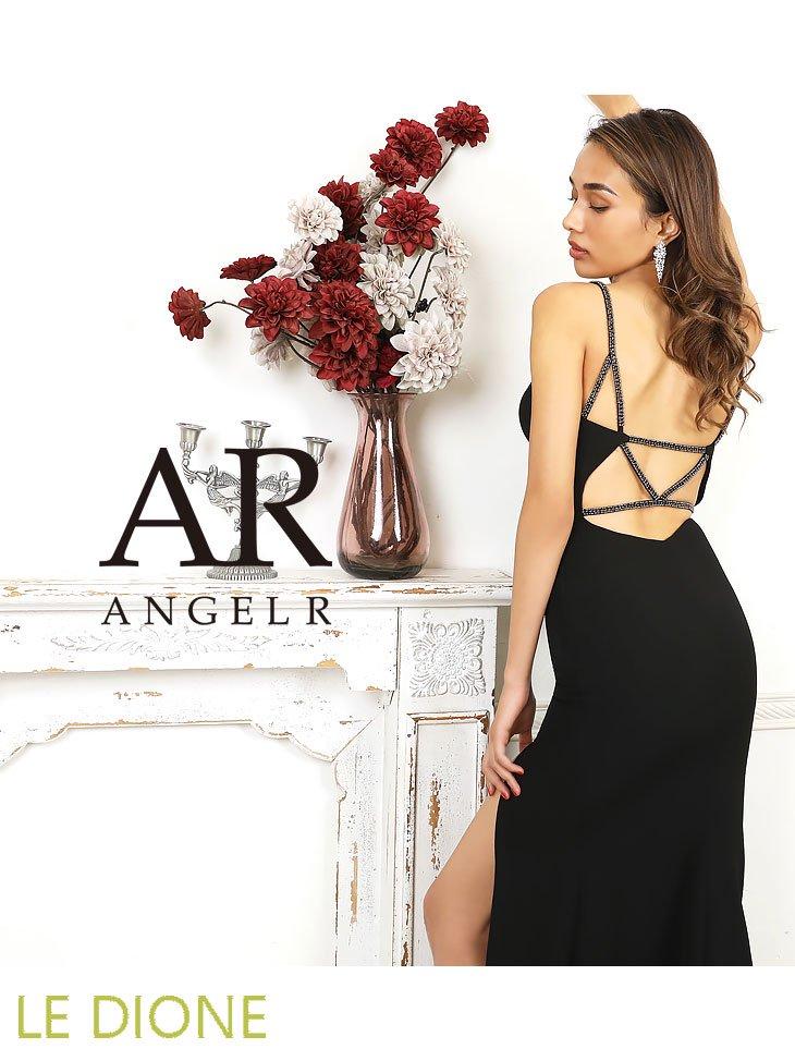 【Angel R/エンジェルアール】バックビジューサイドスリットロングドレス ロングセラー