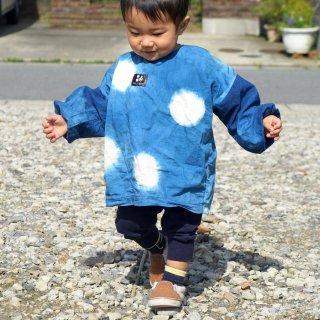 キッズスモック/水玉ブルー
