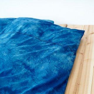 シングルサイズ布団カバー3点セット/藍染2カラー/三河織物