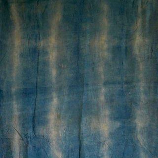 【1m単位】ボーダー/柿渋染め×藍染/知多木綿 ダブルガーゼ