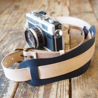 インディゴレザー コンビ カメラストラップ