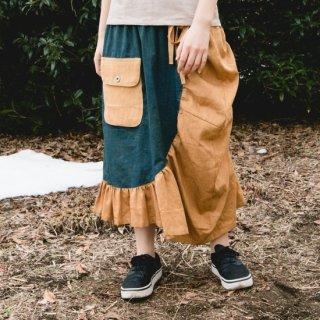 もたもたスカート/2カラー/三河織物