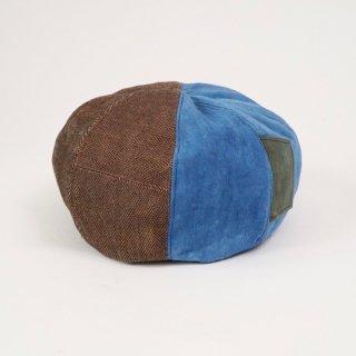もこもこベレー帽/ツイード/インディゴ/三河織物