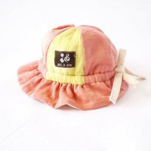 ふわふわハット/ピンク/知多木綿 ダブルガーゼ