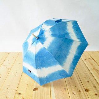 日傘/ボーダーインディゴ/三河織物