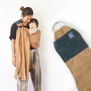 麻の葉 ベビースリング/ブラウン/三河織物