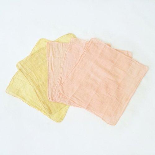 口拭きガーゼハンカチセット/草木染め/知多木綿 ガーゼ