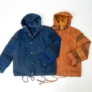 ブルゾンアウター/2カラー/三河木綿 刺し子織