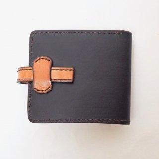 ビルフォード(折り畳み財布、ハーフウォレット)/藍染レザーヌメ革 ツートン