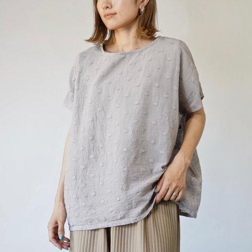ゆるふわドットTシャツ/モノトーン 2カラー/遠州織物