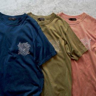 ツブツブTシャツ /草木染め3カラー/和歌山県産 ニット編生地