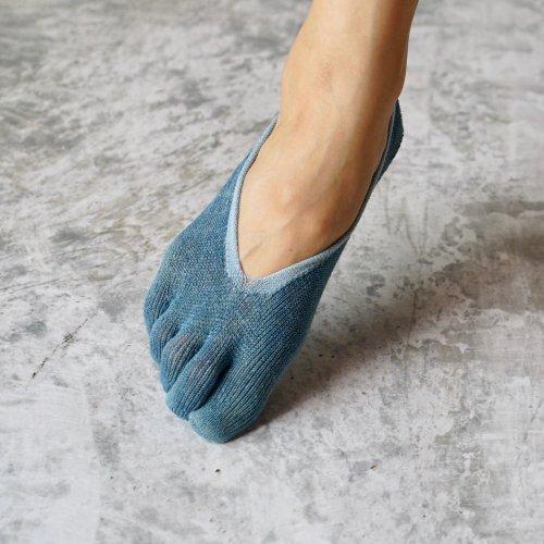 5本指和紙インソックス/本藍染 選べる2色セット/22-24cm/美濃和紙