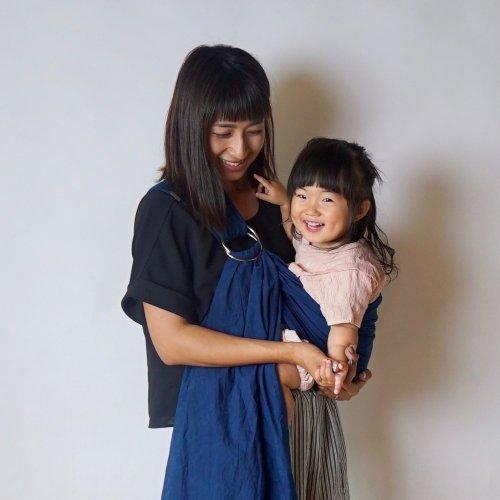 ベビースリング/本藍染 ディープインディゴ/三河織物