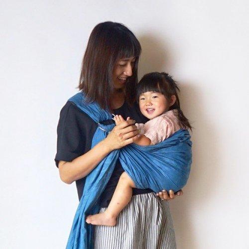 ベビースリング/本藍染 ライトインディゴ/三河織物