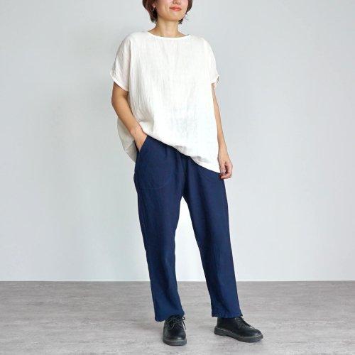 『夏の福袋』ゆったりガーゼTシャツ(生成り) + サルエルパンツ(ブルー)
