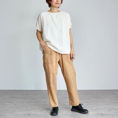 『夏の福袋』ゆったりガーゼTシャツ(生成り) + サルエルパンツ(ブラウンベージュ)