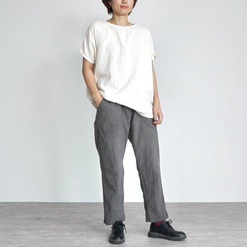 『夏の福袋』ゆったりガーゼTシャツ(生成り) + サルエルパンツ(グレー)