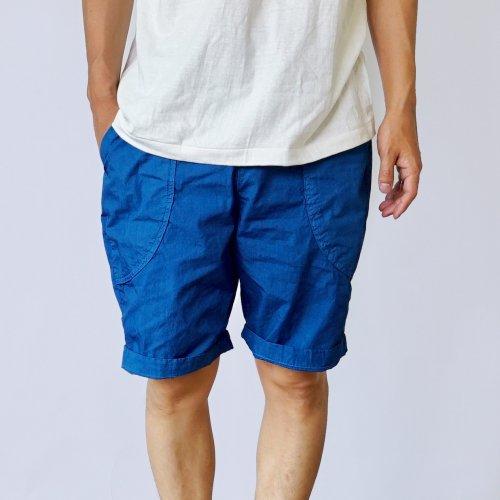パリパリアウトドア ハーフパンツ/ブルー/遠州織物
