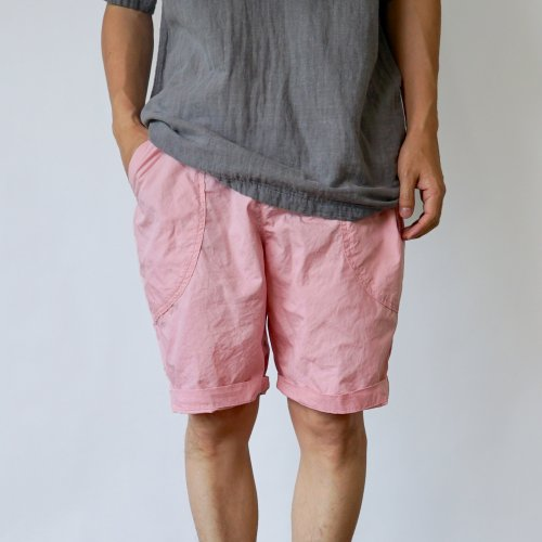 パリパリアウトドア ハーフパンツ/ピンク/遠州織物