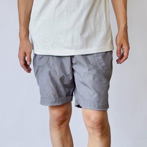 パリパリアウトドア ハーフパンツ/グレー/遠州織物