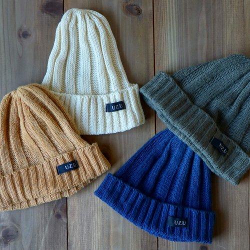 シルクニット帽/4カラー/エコ繭糸