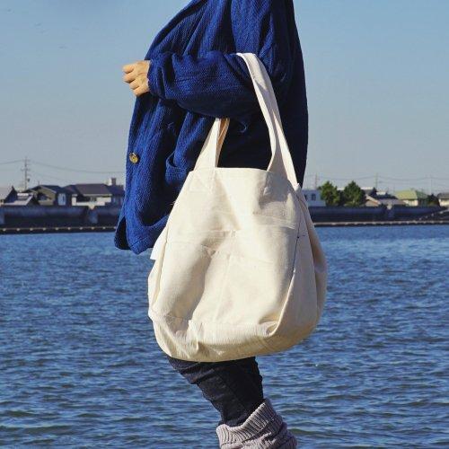 2wayトートバッグ/生成り/三河織物 前掛け帆布