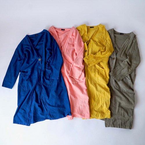 コットン羽織ガウン/4カラー/三河織物