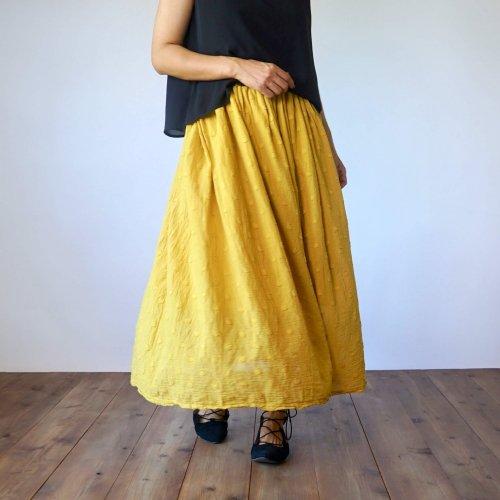 サマーマキシスカート/ドットイエロー/遠州織物