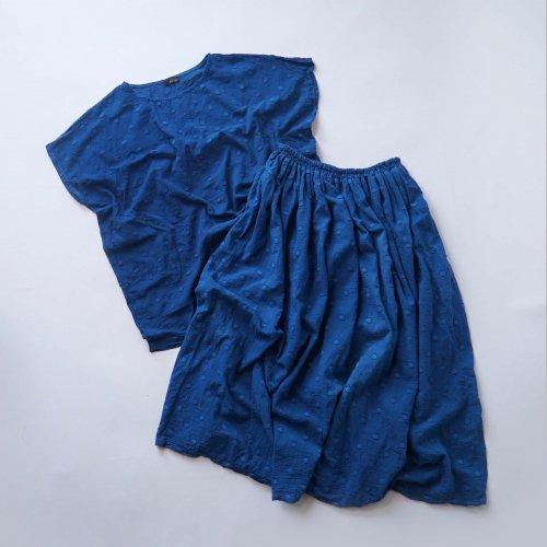 『夏の福袋』ワンピース風セパレートセットアップ/ドットインディゴ/遠州織物