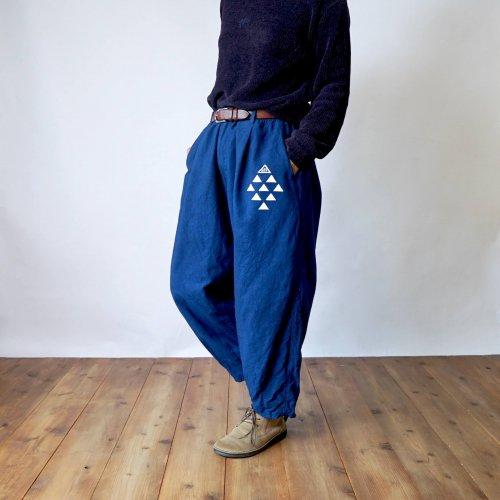 ボンタンパンツ/ インディゴ/三河織物