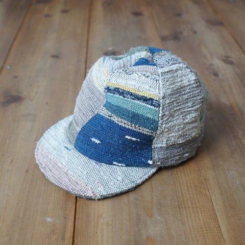 裂織りアンパイヤキャップ/草木染め