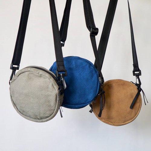 ショルダーバッグcircle/アース3カラー/三河木綿刺し子織