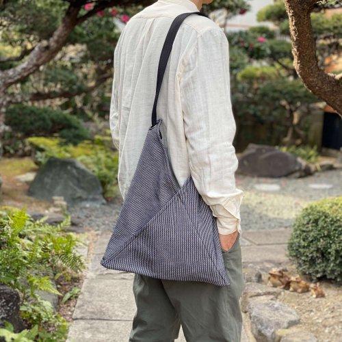 ショルダーバッグ/NIJI/三河木綿刺し子織