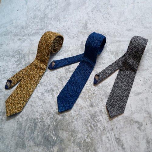 ネクタイ /麻柄3カラー / 三河木綿刺し子織