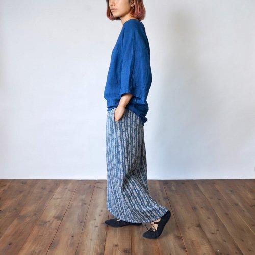 【福袋】ラグランスリーブトップス/ブルー + ニットロングスカート/羽根ブルー