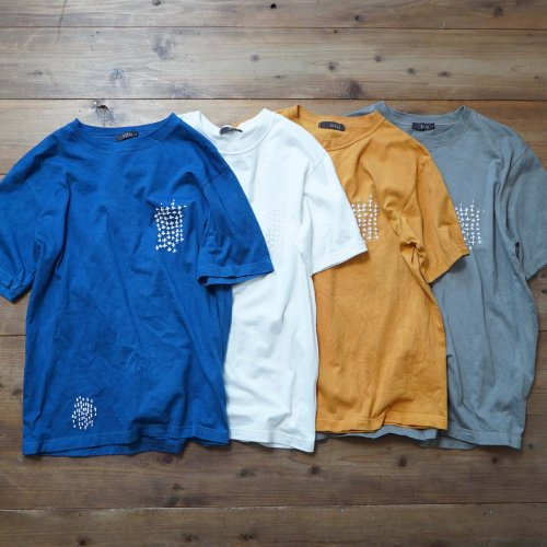 ツブツブTシャツ /草木染め4カラー/和歌山県産 ニット編生地