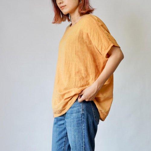 ゆったりガーゼTシャツ/オレンジ/知多木綿 ダブルガーゼ