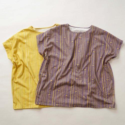 ゆったりスラブニットTシャツ/ホネホネ2カラー/愛知県産ニット