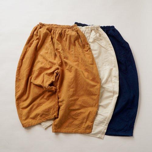 バルーンパンツ8分丈/3カラー/三河織物