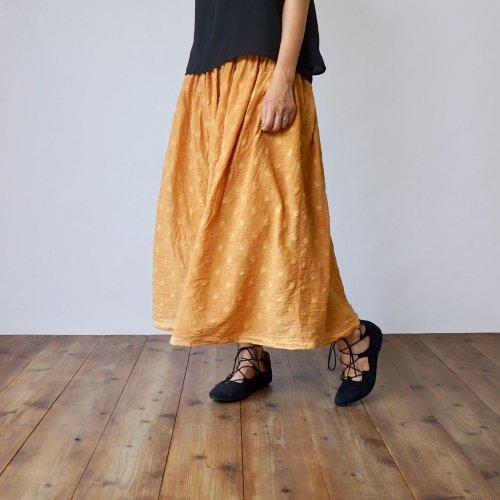 サマーマキシスカート/ドットオレンジ/遠州織物