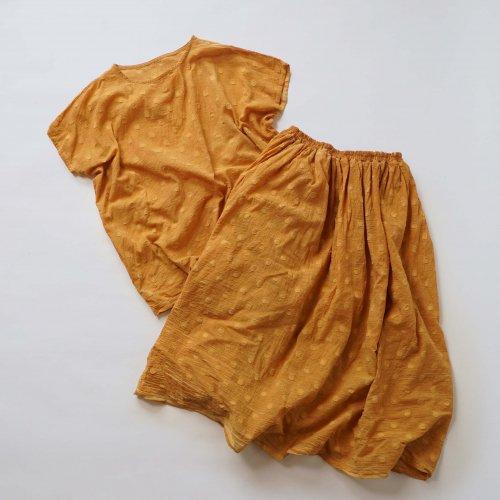 『夏の福袋』ワンピース風セパレートセットアップ/ドットオレンジ/遠州織物