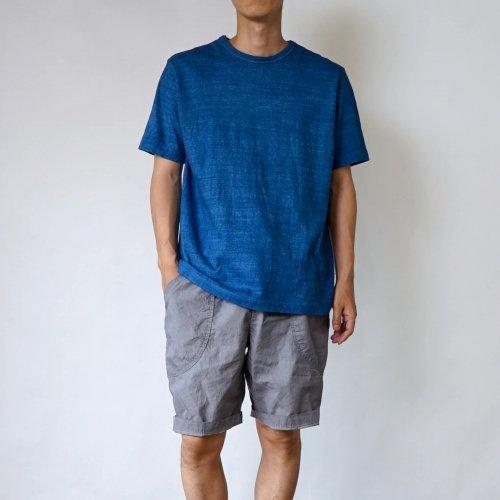 【福袋】吊り編みスラブTシャツ/ブルー + パリパリハーフパンツ/グレー