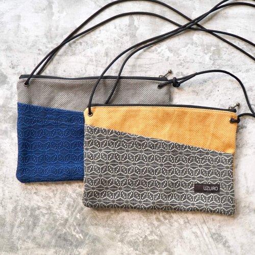 麻柄サコッシュ/2カラー/三河木綿刺し子織