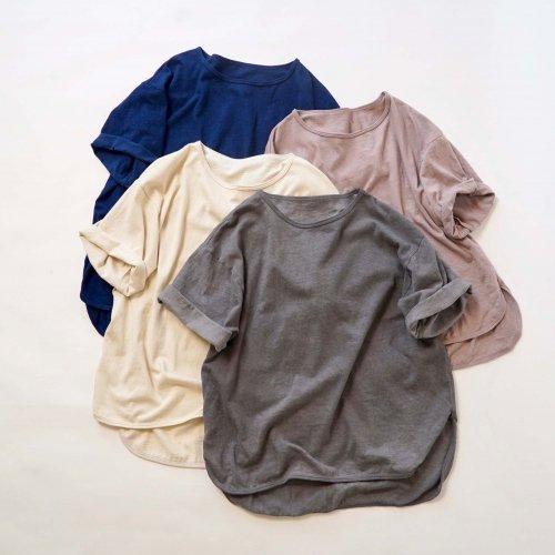 ビッグシルエットTシャツ/4カラー/愛知県産スラブニット
