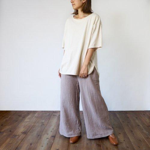 【福袋】ビッグシルエットTシャツ+ボーダーガーゼワイドパンツ/選べる上下セット