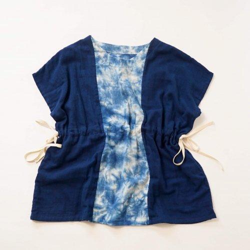 プルオーバーガーゼTシャツ/まだらブルー/知多木綿 ダブルガーゼ